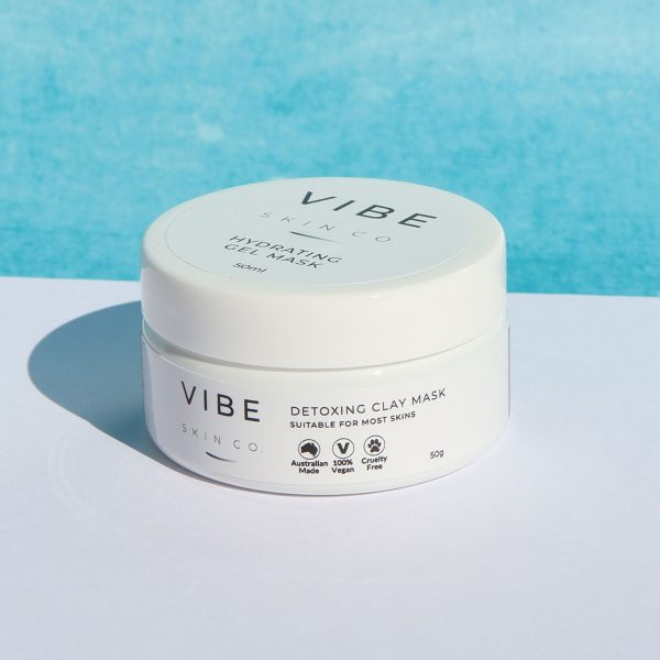 Detoxing Clay Mask - VIBE Skin Co Skincare Cleanser Serums Masks Eye Cream Moisturisers Exfoliator Skin Care Products Local Natural Australian Made Vegan Beauty Products