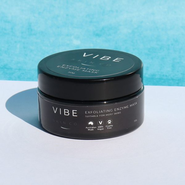 Exfoliating Enzyme Mask - VIBE Skin Co Skincare Cleanser Serums Masks Eye Cream Moisturisers Exfoliator Skin Care Products Local Natural Australian Made Vegan Beauty Products
